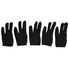 4pcs Elastic 3 Fingers Glove for Billiard Pool Snooker Table Cue Shooter Black