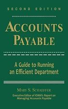 Accounts Payable : A Guide to Running an Efficient Department by Institute of...