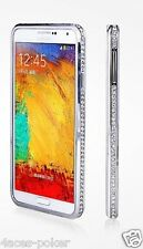 Samsung Note 3 Diamond bumper Strass Diamant Hülle Cover Tasche Case Silber