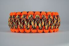 550 Paracord Survival Bracelet King Cobra Orange/Red/Overkill Camping Tactical