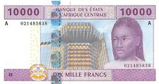 Central African States (A) Gabon 10000 Francs 2002 Pn 410 Aa.1 Unc