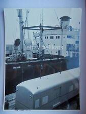 NAVE ship vecchia foto originale Pozzar Trieste  Lloyd Triestino treno  porto 3
