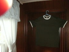 timberland t-shirt short sleeve olive green with white ringer size small NEW