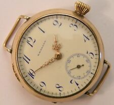 RARE 1905 LONGINES PRIVATE LABEL WIRE LUGS GOLD FILL TRENCH MENS WATCH MINT DIAL