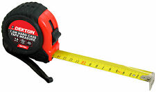 7.5m 25ft Metric Only Hard Case Tough Impact Resistant Pocket Tape Measure