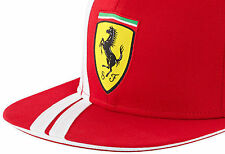 AUTHENTIC BRANDON SCUDERIA FERRARI FERNANDO ALONSO FERRARI SHIELD FLAT BRIM CAP