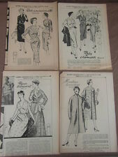 4 PATRONS MODE ECHO FEMMES D AUJOURD HUI / PATTERNS FASHION EMBROIDERY 1955 (18)