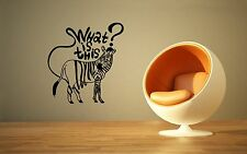 Wall Stickers Vinyl Decal Joke Funny Zebra Animals for Kids ig1412