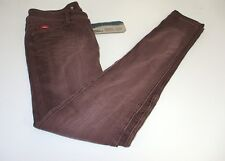 New Le Cooper Womens Jeans Midrise Skinny Russet Red Brown Size 28 x 32 Pearl