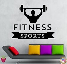Wall Stickers Vinyl Decal Bodybuilding Fitness Iron Sport Gym Muscled (ig257)