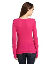 $32 Fox Racing Women's Start Up Henley Long Sleeve Tee In Guava Size M