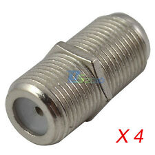4 pcs F Type Female to Female RG6 F81 3GHz Coaxial Barrel Coax Coupler Adapter