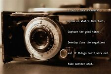 OLD TIME CAMERA inspirational poster QUOTE ABOUT LIFE 24X36 poetic CHARMING