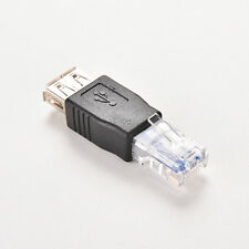 USB A Female F to Ethernet RJ45 Male Router Adapter Plug Socket LAN Network MO