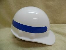 Honeywell Fibre-Metal E2RW Thermoplastic White Blue Reflective Tape Hard Hat Cap