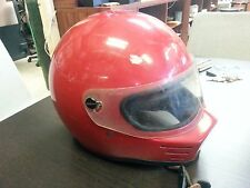 Vintage Simpson Bandit MotorCycle Racing Helmet Snell Darth Style Red PLEASEREAD
