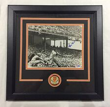 Willie Mays signed framed 8x10 with PSA Cert