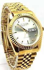 New Citizen Man  Gold-tone, White-dial, Date-Calendar window Dress Watch