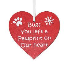 Personalizado Mascota Memorial Rojo Corazón Árbol De Navidad Decoración