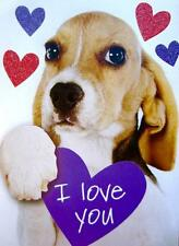 """""""I Love You THIS MUCH"""" RPG PAPYRUS VALENTINE'S DAY CARD Dog with Ears Wide"""