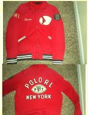 "Red Polo Ralph Lauren varsity football letterman ""Champs"" jacket PRL XXL NWT"
