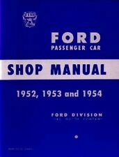 1952 1953 1954 Ford Custom Deluxe Shop Service Repair Manual Engine Drivetrain