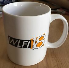 CBS W LAFAYETTE IN WLFI NEWS 18 COFFEE CUP MUG SPORTS WEATHER DRINK ADVERTISING