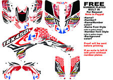 TRX450R LOGO NINETYSIX GRAPHIC KIT RED FULL WRAP 08-NEWER HONDA 450 TRX450