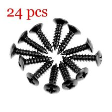 24pcs Pickguard Screws for Guitar Fender Strat Tele - Black Tone