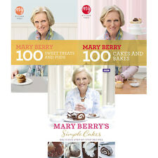 Mary Berry Collection 3 Books Simple Cakes,100 Sweet Treats and Puds,100 Cakes
