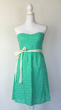 Flying Tomato Strapless Circle Eyelet Lace Dress Turquoise Mint Green NWT $78.99