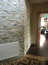 Oyster Split face Slate Wall Mosaic Cladding tiles, Internal or External use