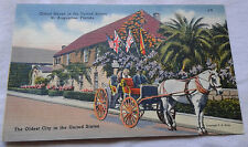 Oldest House in the United States Postcard St. Augustine, Florida Landmarks VTG