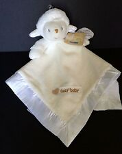 Kid's Preferred Cozy baby Lamb Security Blanket velour plush satin Ivory/White
