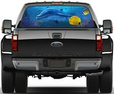 Dolphin Ocean Sanctuary Rear Window Graphic Decal Truck SUV