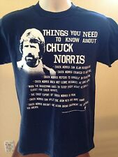 VINTAGE THINGS YOU NEED TO KNOW ABOUT CHUCK NORRIS T SHIRT SMALL