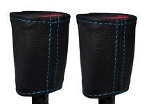 Cuciture Blu Adatta TOYOTA YARIS 2005-2013 2x ANTERIORE Cintura di sicurezza in pelle copre