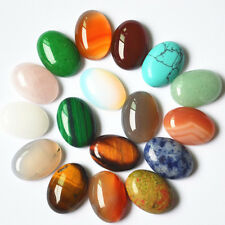 Wholesale 30pcs/lot mixed natural gemstone Oval CAB CABOCHON stone beads 13x18mm