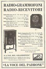 W7893 La Voce del Padrone - Listino Prezzi Grammofoni - Pubblicità del 1933 - Ad