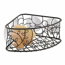 Interdesign Twigz Bath, Suction Corner Basket, Bronze New Gift