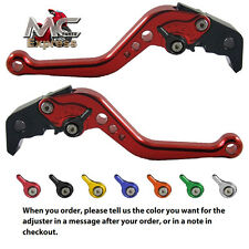 Honda CBR400 / VFR400 / RVF400 Short Adjustable Brake & Clutch CNC Levers Red