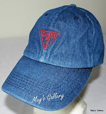 GUESS Jeans Baseball Hat Hats Bold Logo  NWT One size Cap Adjustable Denim