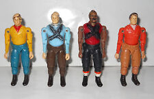 A TEAM FIGURE LOT4 FIGURES VARIANT A TEAM 3,4 INCHES 80S VERY RARE SIMIL GALOOB