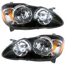 Toyota Corolla 04-08 Headlights Headlamps Pair Set Left Lh & Right Rh New