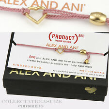 Authentic Alex and Ani Precious Love Heart Dark Pink 14ktGP Kindred Bracelet