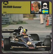 GUNNAR NILSSON Sweden Race Car BIO CARD Lotus-Cosworth