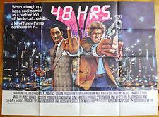 vintage rare 48 Hrs quad film poster 1982 Excellent Condition