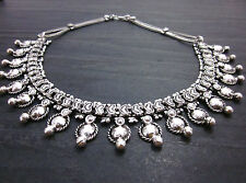 Necklace Choker Collar Rajasthan India Vintage Silver Jewelry Punk Boho Tribal