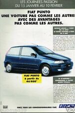 Publicité advertising 1996 Journées passion Fiat Punto