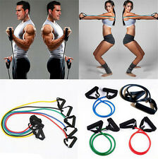 Resistance Trainers Bands Natural Latex Light Med Heavy Exercise Cross F Fitness